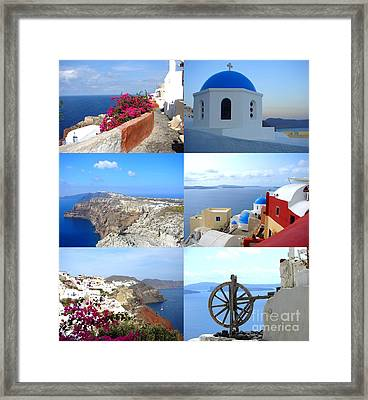 Memories From Santorini Framed Print by Ana Maria Edulescu