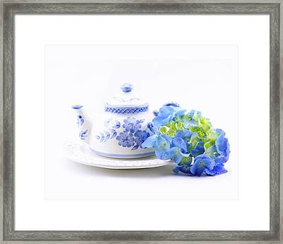 Memories In Blue Framed Print