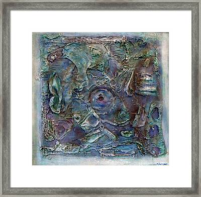 Memories In Blue Framed Print by Ralph Levesque