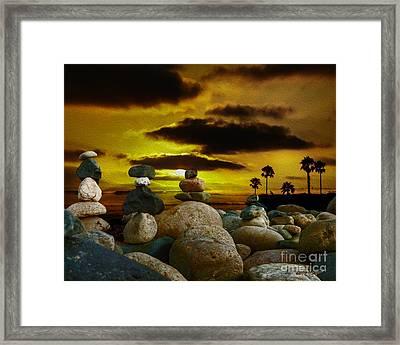 Memories In The Twilight Framed Print by Rhonda Strickland