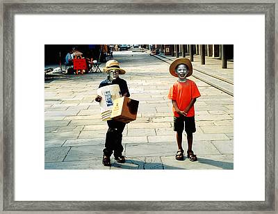 Memories Of A Better Time The Children Of New Orleans Framed Print by Christine Till