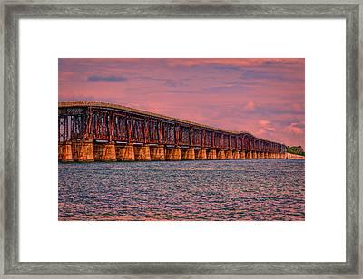 Memories Of A Bridge Framed Print