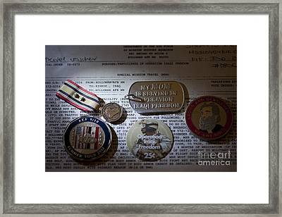 Memories Of A Past Life Framed Print by Melany Sarafis