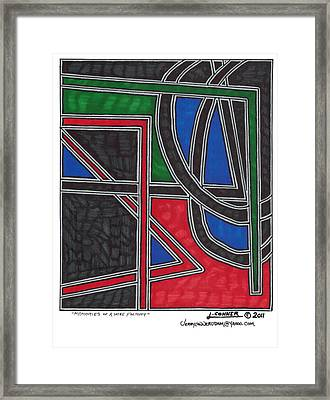 Memories Of A Wire Factory Framed Print