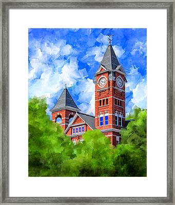 Memories Of Auburn - Samford Hall Framed Print by Mark Tisdale