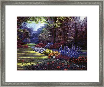 Memories Of Beacon Hill Park Framed Print by David Lloyd Glover