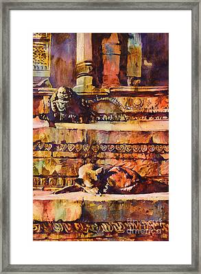 Memories Of Happier Times- Nepal Framed Print by Ryan Fox