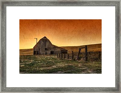 Memories Of Harvest Framed Print by Mark Kiver