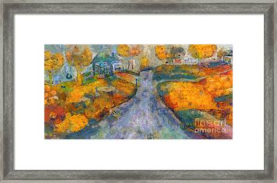 Framed Print featuring the painting Memories Of Home In Autumn by Claire Bull