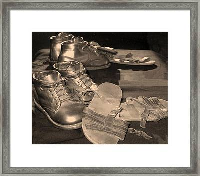 Memories Of Little Feet Framed Print