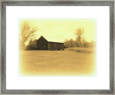 Memories Of Long Ago - Barn Framed Print by Susan Lafleur