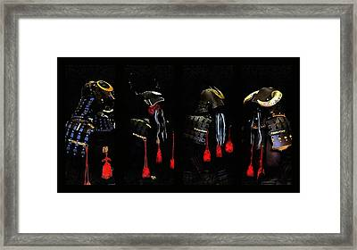 Memories Of Samurai Black Armour Collage Framed Print by Dorothy Berry-Lound