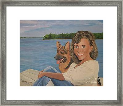 Memories Of Stephanie In Freeport Framed Print