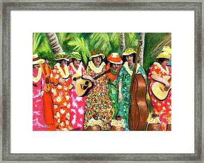 Memories Of The Kodak Hula Show At Kapiolani Park In Honolulu #20 Framed Print by Donald k Hall