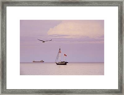 Framed Print featuring the photograph Memories Of The Lake by Heidi Hermes