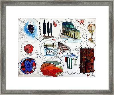 Memories Of Tuscany Framed Print by Pat Purdy