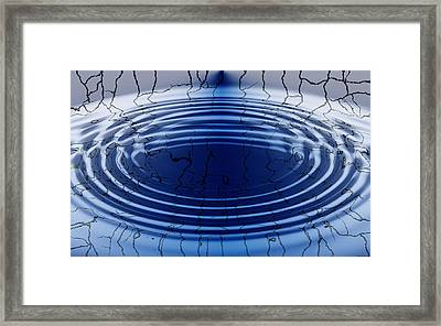 Memories Ripple Framed Print by Evelyn Patrick