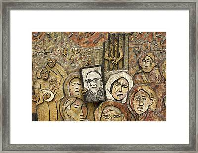 Memory And Truth Monument Detail San Salvador  Framed Print by John  Mitchell