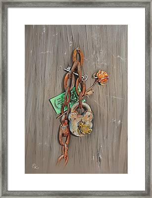 Memory Board Framed Print by Elena Kolotusha