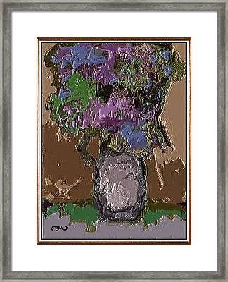 Framed Print featuring the digital art Memory For Flowers Mof 4 by Pemaro