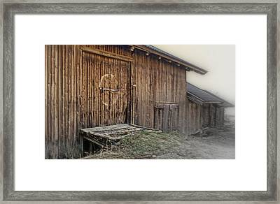 going to the memory hall when I've lost the trust in people Framed Print by Hilde Widerberg