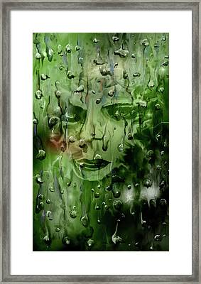 Framed Print featuring the digital art Memory In The Rain by Darren Cannell