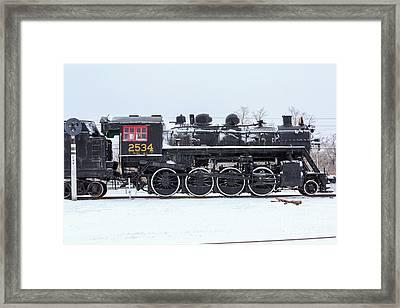 Memory Junction Railway Museum In Brighton Ontario Framed Print by Louise Heusinkveld