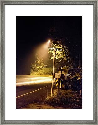 Memory Lane Framed Print