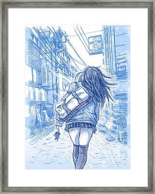 Memory Lane II Framed Print by Tuan HollaBack