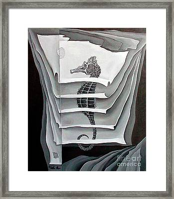 Framed Print featuring the painting Memory Layers by Fei A