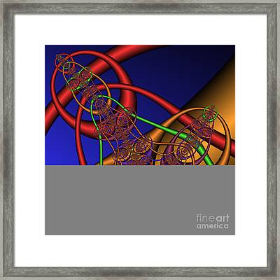 Memory Loops 137 Framed Print by Rolf Bertram