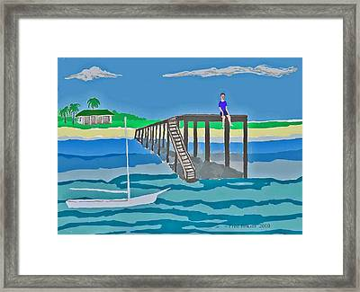 Memory Of Key West  Framed Print by Fred Jinkins