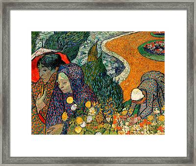 Framed Print featuring the painting Memory Of The Garden At Etten by Van Gogh