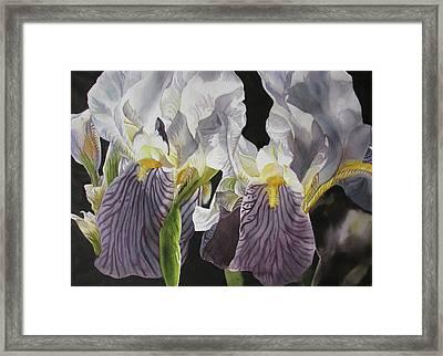 Memory Of The Iris Framed Print