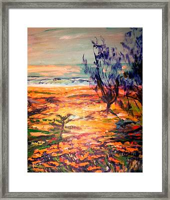 Framed Print featuring the painting Memory Pandanus by Winsome Gunning