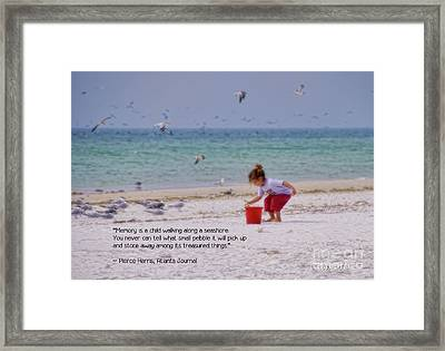 Framed Print featuring the photograph Memory by Peggy Hughes