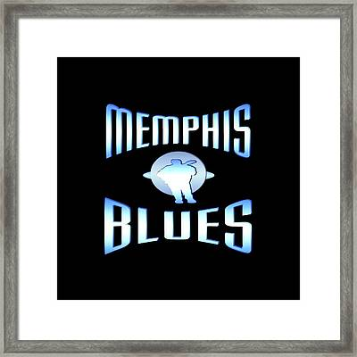 Memphis Blues Tshirt Design Framed Print by Art America Gallery Peter Potter