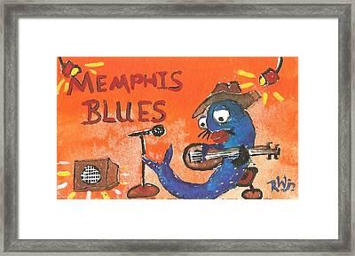 Memphis Blues Framed Print by Robert Wolverton Jr