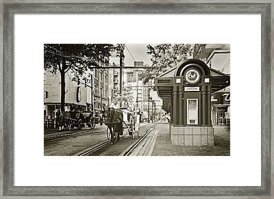 Memphis Carriage Framed Print