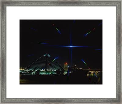 Memphis Christmas Starburst Framed Print