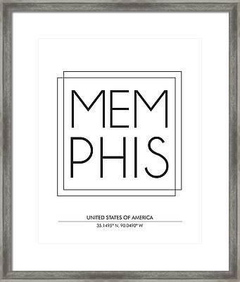 Memphis City Print With Coordinates Framed Print