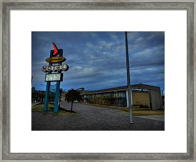 Memphis - Dark Clouds Over The Lorraine Motel Framed Print by Lance Vaughn