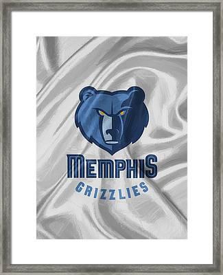 Memphis Grizzlies Framed Print by Afterdarkness