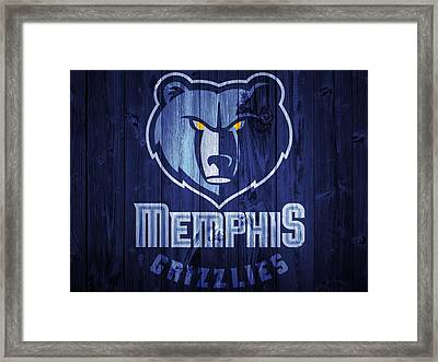 Memphis Grizzlies Barn Door Framed Print by Dan Sproul