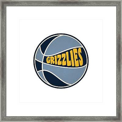 Memphis Grizzlies Retro Shirt Framed Print