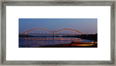Memphis - I-40 Bridge Over The Mississippi 2 Framed Print
