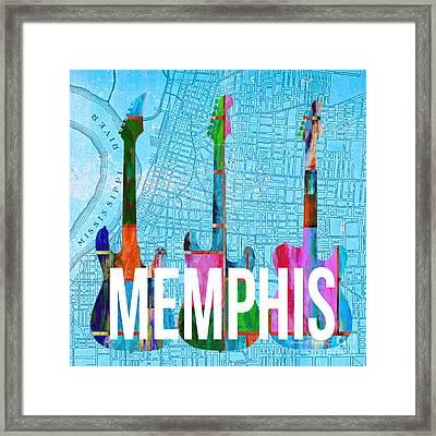 Memphis Music Scene Framed Print