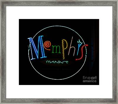 Memphis Neon Sign Framed Print by Mindy Sommers