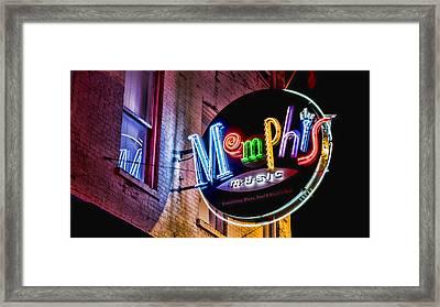 Memphis Neon Framed Print by Stephen Stookey