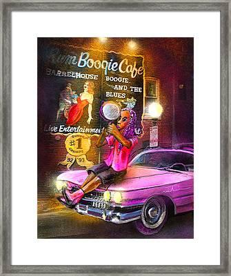 Memphis Nights 01 Framed Print by Miki De Goodaboom